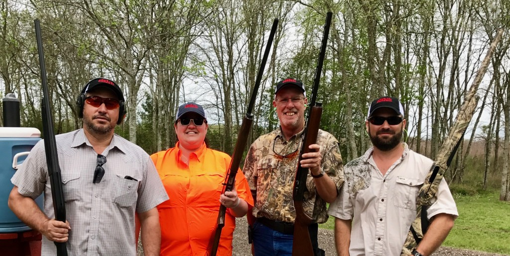 The Gonzalez Group Team Pictured from L to R:  Orlando Garza – Project Superintendent, Jessica Allison – Assistant Superintendent and AGC Sporting Clays Committee Member, David Walker – Project Superintendent and Gary Bronikowski – Project Superintendent.